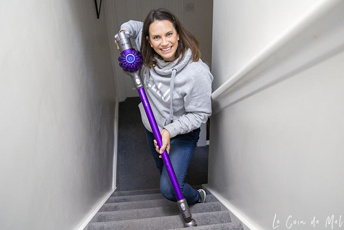 This is me vacuuming the stairs. There's nothing nicer than vacuuming the house whilst listening to music.